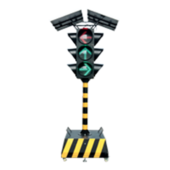 太阳能箭头移动信号灯4面3灯
