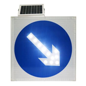 太阳能右箭头发光标志牌