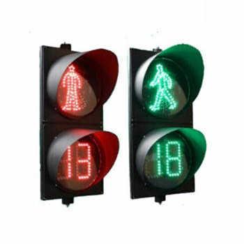 300MM双色倒计时+静态红人+动态绿人交通信号灯3单元