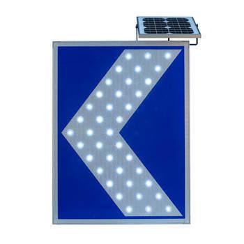 太阳能同步闪线性导向发光标志牌 GPS同步闪发光标志牌